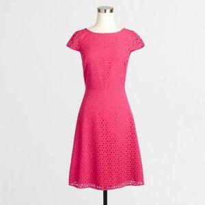 J.Crew Factory Pink Laser Cut Dress